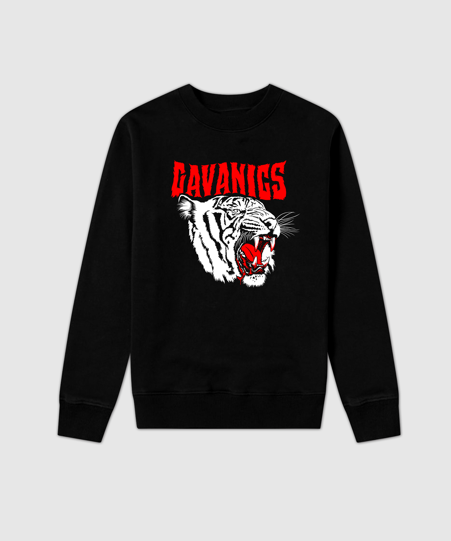 BlackTigerSweatshirt - TIGER FACE CREWNECK BLACK
